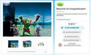 Playmobil Troll mit Zwergenkämpfern